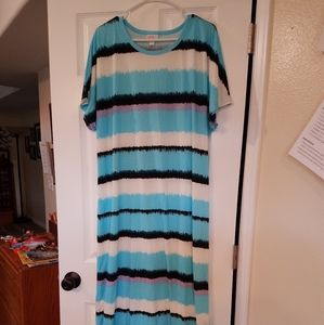 Lularoe 2XL Striped Maxi Dress